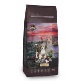LANDOR Полнорационный сухой корм для щенков всех пород от 1 до 18 месяцев утка с рисом 1 кг