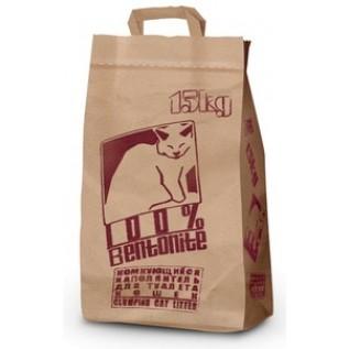 """No Name"" Комкующийся наполнитель для туалета кошек (крафт-пакет) 15 кг."