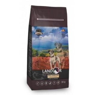 LANDOR Полнорационный сухой корм для взрослых собак всех пород беззерновой ягненок с бататом 15кг