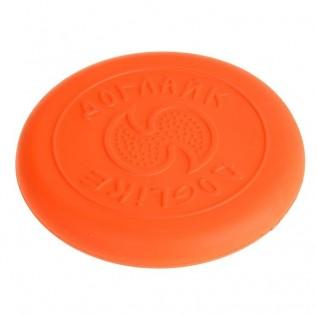 "Летающая тарелка-фрисби ""ДогЛайк"" малая, 18х2,3 см, оранжевая"
