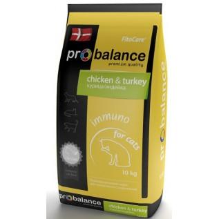 ProBalance Immuno корм сухой для кошек курица-индейка 1,8 кг