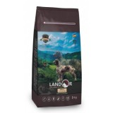 LANDOR Полнорационный сухой корм для взрослых собак крупных пород ягненок с рисом 15 кг
