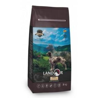 LANDOR Полнорационный сухой корм для взрослых собак крупных пород ягненок с рисом 15 к