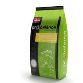 Probalance Sensitive  сухой для кошек с чувств. пищев. (курица-рис) 10 кг