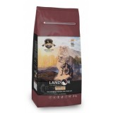 LANDOR Полнорационный сухой корм для взрослых кошек с чувствительным пищеварением ягненок с рисом 0,4 кг