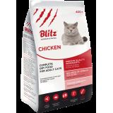 Blitz: сухой корм для взрослых кошек «Курица»