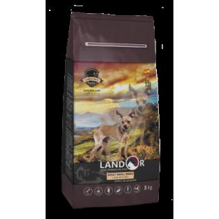 LANDOR Полнорационный сухой корм для взрослых собак мелких пород ягненок с рисом 15 кг