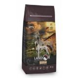 LANDOR Полнорационный сухой корм для взрослых собак всех пород ягненок с рисом 1 кг