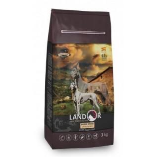 LANDOR Полнорационный сухой корм для взрослых собак всех пород ягненок с рисом 15 кг