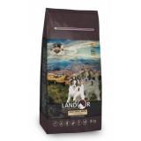 LANDOR Полнорационный сухой корм для взрослых собак мелких пород утка с рисом 1 кг