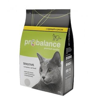 Probalance Sensitive сухой для кошек с чувствит.пищев. (курица-рис), 400 гр